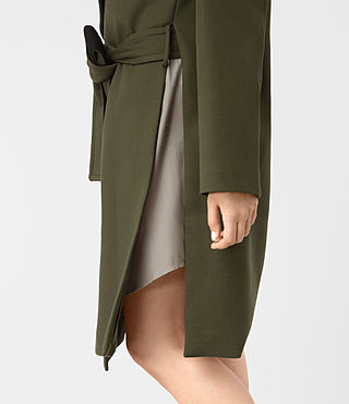 Womens Indira Penza Coat (Khaki Green) - product_image_alt_text_2