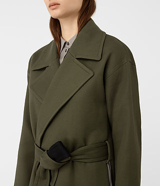 Womens Indira Penza Coat (Khaki Green) - product_image_alt_text_3