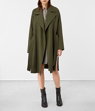 Womens Indira Penza Coat (Khaki Green) - product_image_alt_text_4