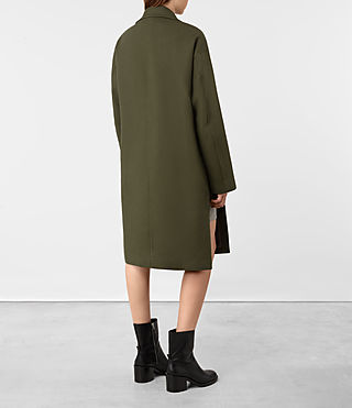 Womens Indira Penza Coat (Khaki Green) - product_image_alt_text_5