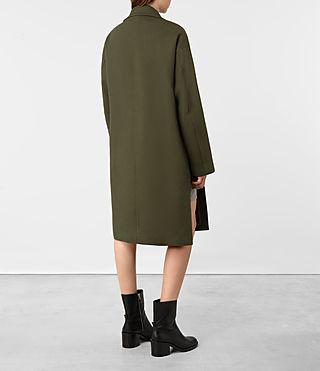 Mujer Indira Penza Coat (Khaki Green) - product_image_alt_text_5
