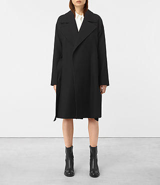 Womens Indira Penza Coat (Black)