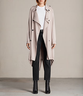 Femmes Trench-coat Lia (Dusty Pink)