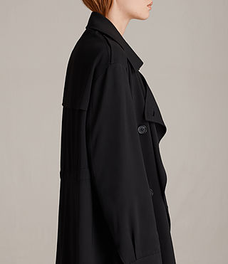 Femmes Trench-coat Lia (Black) - product_image_alt_text_2
