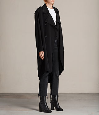 Femmes Trench-coat Lia (Black) - product_image_alt_text_3