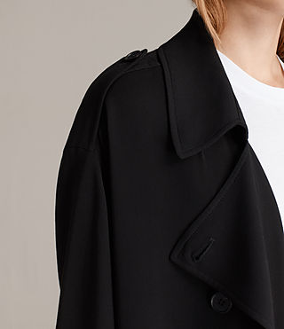 Femmes Trench-coat Lia (Black) - product_image_alt_text_4