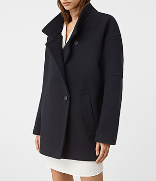 Women's Meade Torto Coat (Ink Blue) - product_image_alt_text_2