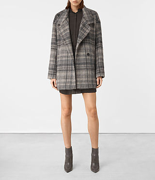 Women's Meade Coat (OAT CHECK) -