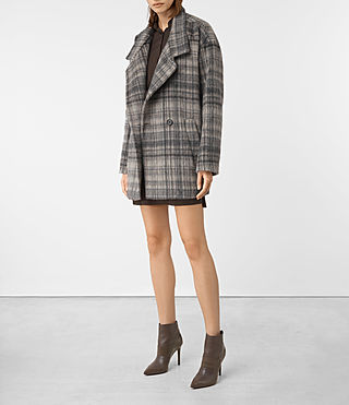Women's Meade Coat (OAT CHECK) - product_image_alt_text_2