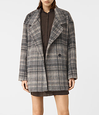 Women's Meade Coat (OAT CHECK) - product_image_alt_text_3