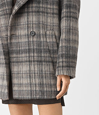 Women's Meade Coat (OAT CHECK) - product_image_alt_text_4