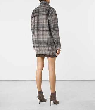 Women's Meade Coat (OAT CHECK) - product_image_alt_text_5