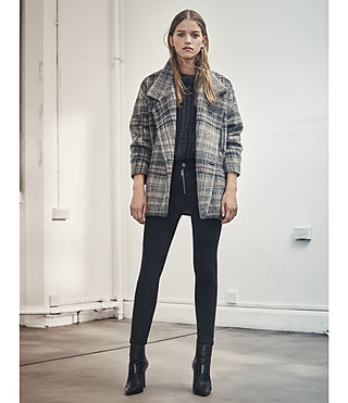 Women's Meade Coat (OAT CHECK) - product_image_alt_text_6