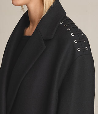 Femmes Manteau court Ada à lacets (Black) - product_image_alt_text_2