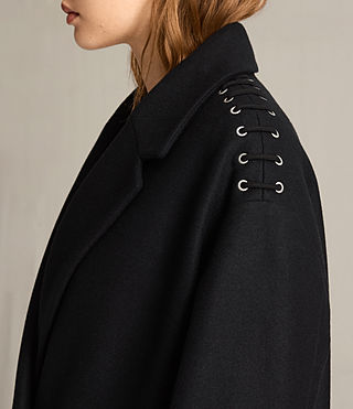 Women's Ada Laced Coat (Black) - product_image_alt_text_2
