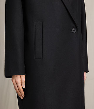 Women's Ada Laced Coat (Black) - product_image_alt_text_3