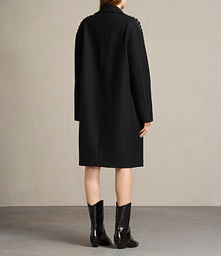 Women's Ada Laced Coat (Black) - product_image_alt_text_6