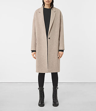Womens Sancia Lotto Coat (Taupe Brown) - product_image_alt_text_1