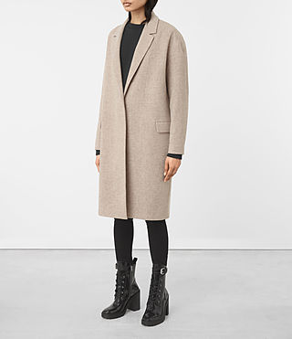 Womens Sancia Lotto Coat (Taupe Brown) - product_image_alt_text_3