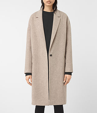 Womens Sancia Lotto Coat (Taupe Brown) - product_image_alt_text_4