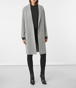 Womens Sancia Lotto Coat (Grey) - product_image_alt_text_1