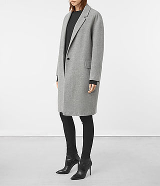 Femmes Manteau Sancia Lotto (Grey) - product_image_alt_text_2