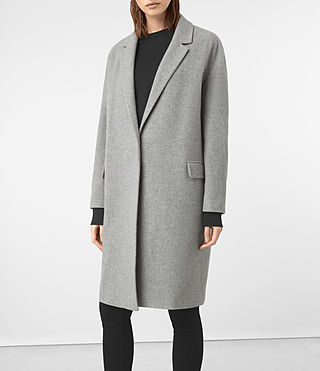 Femmes Manteau Sancia Lotto (Grey) - product_image_alt_text_4