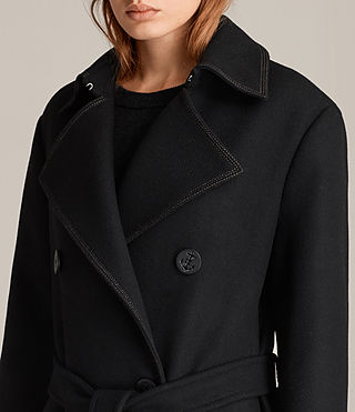 Womens Ripley Coat (Black) - Image 3
