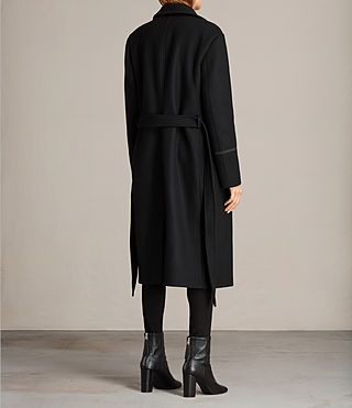 Womens Ripley Coat (Black) - Image 6