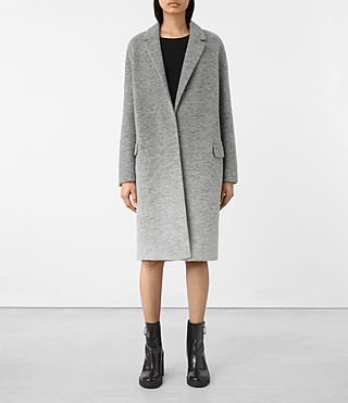 Damen Sancia Ricci Coat (Pale Grey)