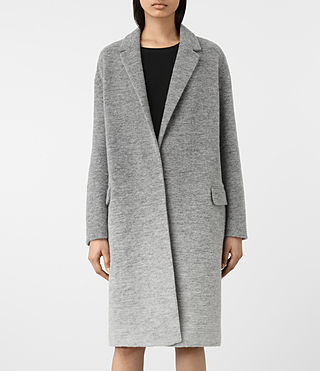 Damen Sancia Ricci Coat (Pale Grey) - product_image_alt_text_2