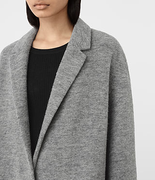 Damen Sancia Ricci Coat (Pale Grey) - product_image_alt_text_3