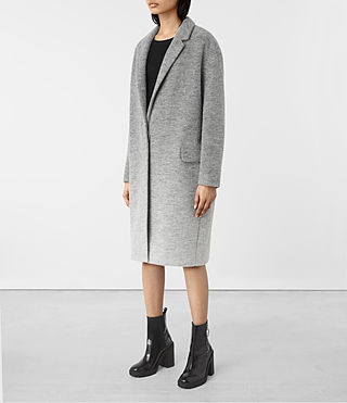 Damen Sancia Ricci Coat (Pale Grey) - product_image_alt_text_4