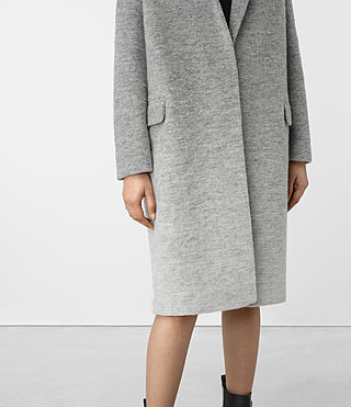 Damen Sancia Ricci Coat (Pale Grey) - product_image_alt_text_5