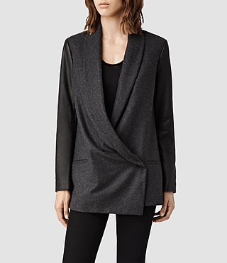Womens Emery Jacket (Charcoal)