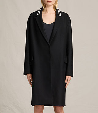 Womens Oren Rib Coat (Black)