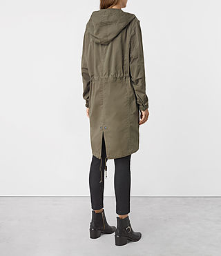 Womens Caden Parka (Khaki Green) - product_image_alt_text_4