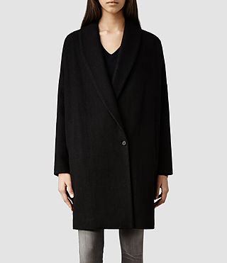 Womens Sentai Klein Coat (Charcoal)