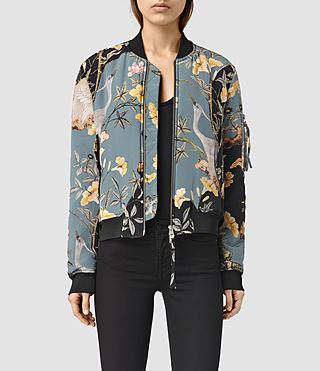 Womens Iva Heron Bomber (Grey) - product_image_alt_text_1