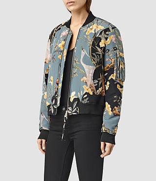 Womens Iva Heron Bomber (Grey) - product_image_alt_text_2