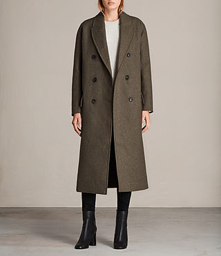 Womens Rhea Dax Coat (Khaki Green) - Image 1