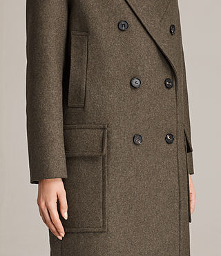 Womens Rhea Dax Coat (Khaki Green) - Image 2