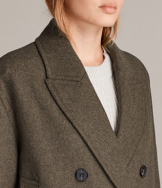 Womens Rhea Dax Coat (Khaki Green) - Image 3