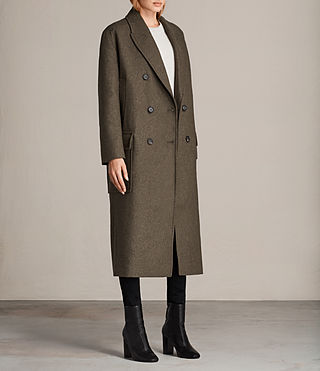 Womens Rhea Dax Coat (Khaki Green) - Image 4