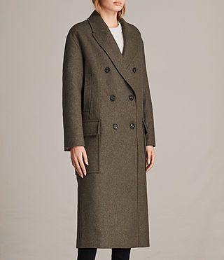 Womens Rhea Dax Coat (Khaki Green) - Image 5