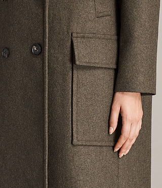 Womens Rhea Dax Coat (Khaki Green) - Image 6