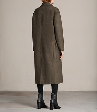 Womens Rhea Dax Coat (Khaki Green) - Image 7