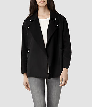 Womens Adria Biker Jacket (Black)