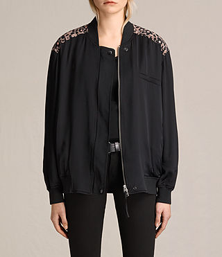 Womens Cleo Lyos Bomber Jacket (Black)