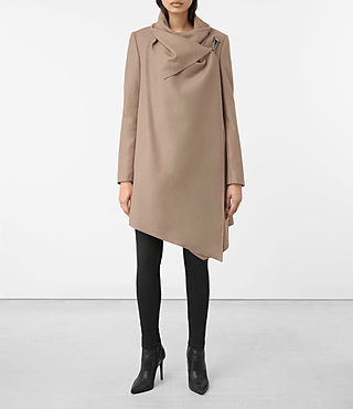 Womens City Monument Coat (Dune) - product_image_alt_text_1